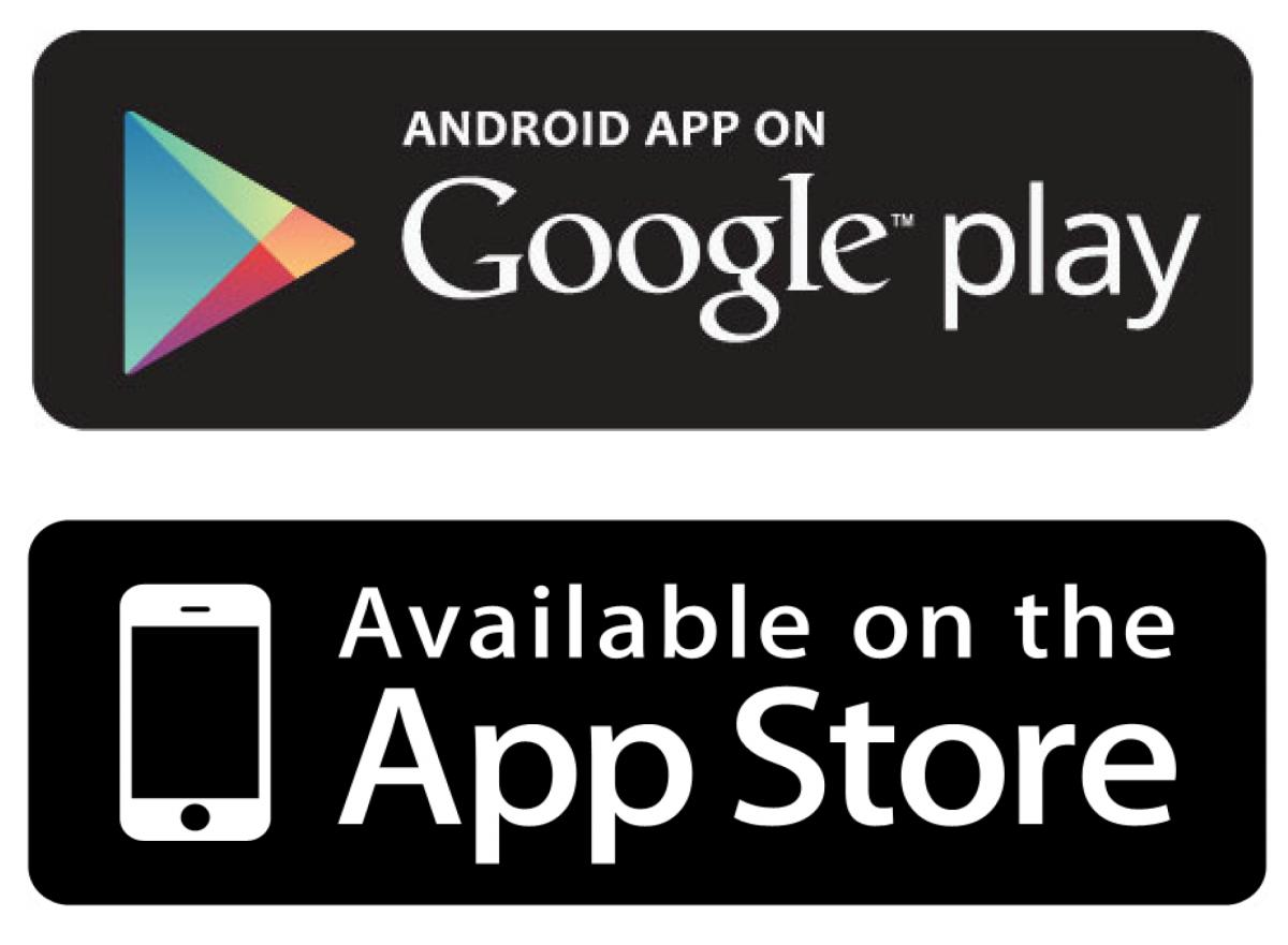 Apple and Android App Store Logos