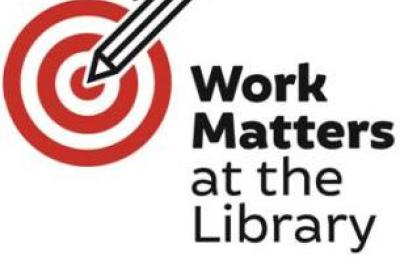 Image of Work Matters at your library brand logo