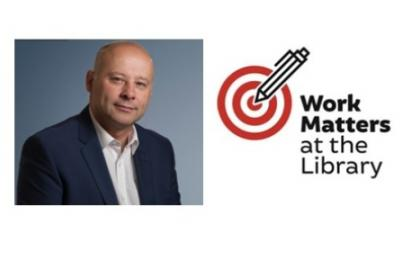 Image of Alan Maher and the Work Matters at your library logo