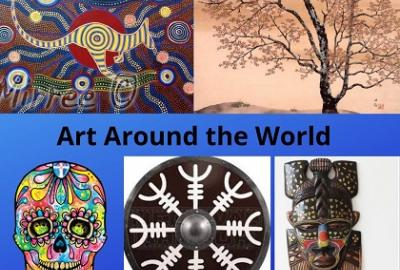 Art Around the World Children's Workshops with Elaine Hoysted in Gorey Library