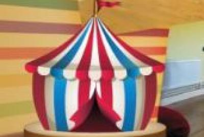 Image of miniture Circus Tent for Circus Skills Workshop in Wexford Library
