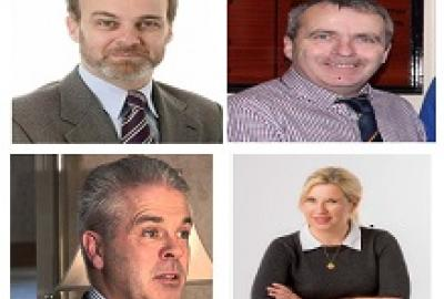 Dr. Cara Augustenborg, Dr. Jonathan Derham, Dr. Karl Richards and Gerry Forde