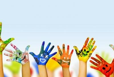 Image of painted hands for Dance with Vivian Brodie Hayes - Autism Friendly Event