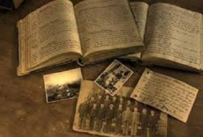 Image of old books and photos