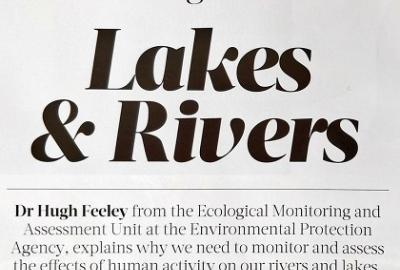 Image of Article on Lakes and Rivers by Hugh Feeley, EPA