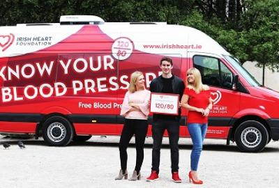 Irish Heart Foundation Mobile Health Unit Visit