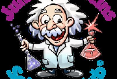 Image of Junior Einsteins Science Club logo branding