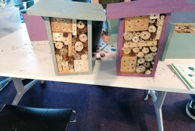 Bee Hotel Workshop for Children with Beekeeper Rob Marrey in Bunclody Library