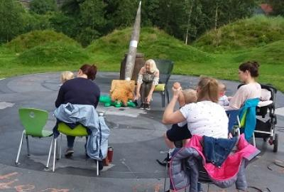 Toddler and Baby Storytime with Patricia in Library Park