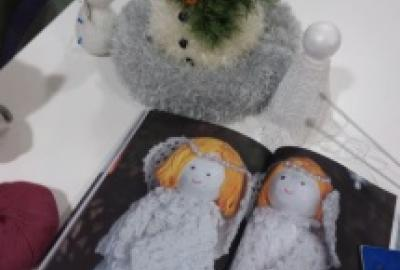 Image of knited angels
