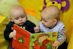 Image of two babies at Baby Rhyme Time