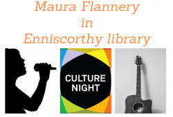 Image of poster - Celebrate Culture Night with Maura Flannery