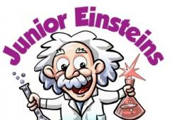 Image of Junior Einsteins Science Club logo branding
