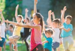 Yama Kids Yoga with Amanda Nugent Outdoor Event in Library Park